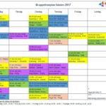 Gruppetimeplanen høsten 2017
