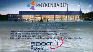 Medlemmer ved Røykenbadet får gode rabatter på Sport 1 Røyken!
