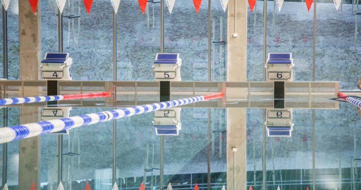 25 meters bassenget mangler forløpig banetau og startpaller grunnet vedlikehold av startpallene
