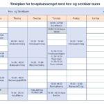 Timeplan for bassenget med hev og senkbar bunn