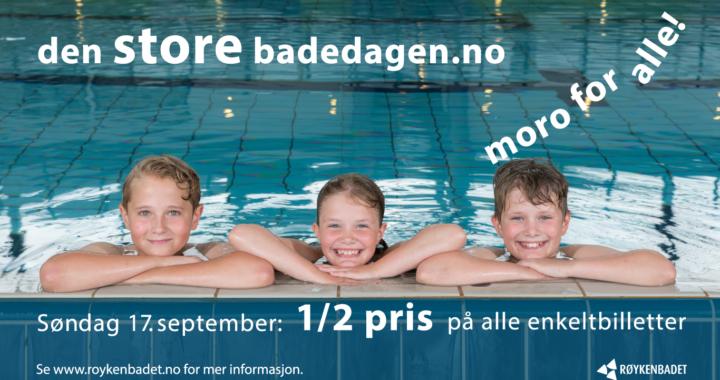 Bli med på den store badedagen søndag 17. september