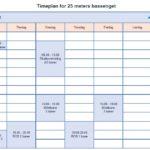 Timeplan for 25 meters bassenget 2018