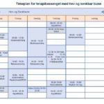 Timeplan for bassenget med hev og senkbunn 2018