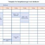 Timeplan for bassenget med skråbunn