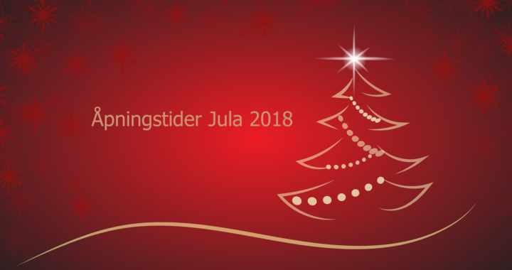 Det er reduserte åpningstider jul og nyttår 2018