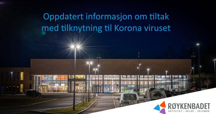 Oppdatering av info om Koronavirus situasjonen